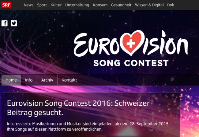 eurovision song contest schweiz internetplattform