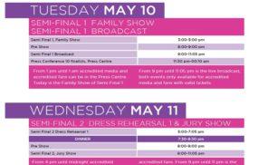 Eurovision Song Contest 2016 Terminplan