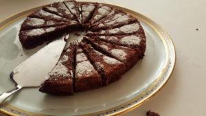 The desert: chocolate cake
