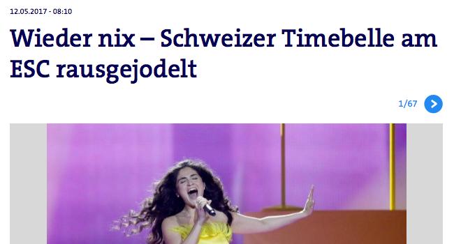 Timebelle Eurovision Song Contest 2017 Presse Ausscheiden