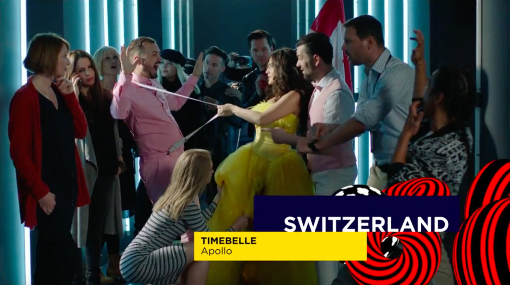Postcard Eurovision Song Contest Switzerland Timebelle 2017