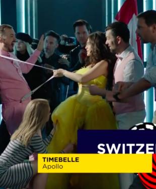 Postcard Eurovision Song Contest Switzerland Timebelle 2017