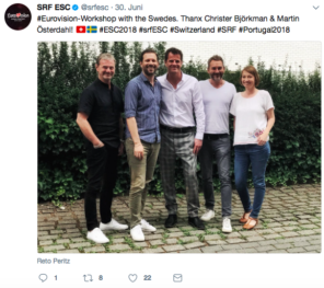 Eurovision Song Contest 2018 Schweiz Suisse Switzerland Workshop Sweden