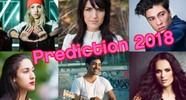 Eurovision Song Contest 2018 SRF Entscheidungsshow Switzerland Schweiz Suisse prediction