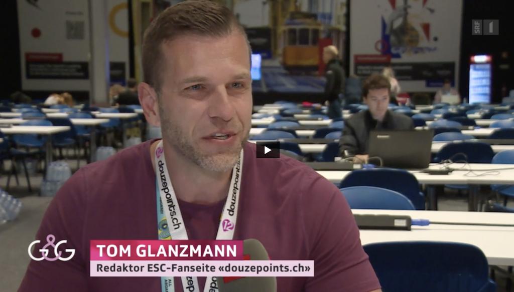 Tom Glanzmann Eurovision Song Contest Experte SRF Glanz & Gloria Fan