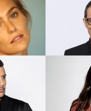 Hosts Eurovision Song Contest 2019 Tel Aviv Bar Refaeli, Erez Tal, Assi Azar, Lucy Ayoub