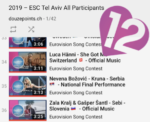 Eurovision Song Contest 2019 YouTube Playlist all songs