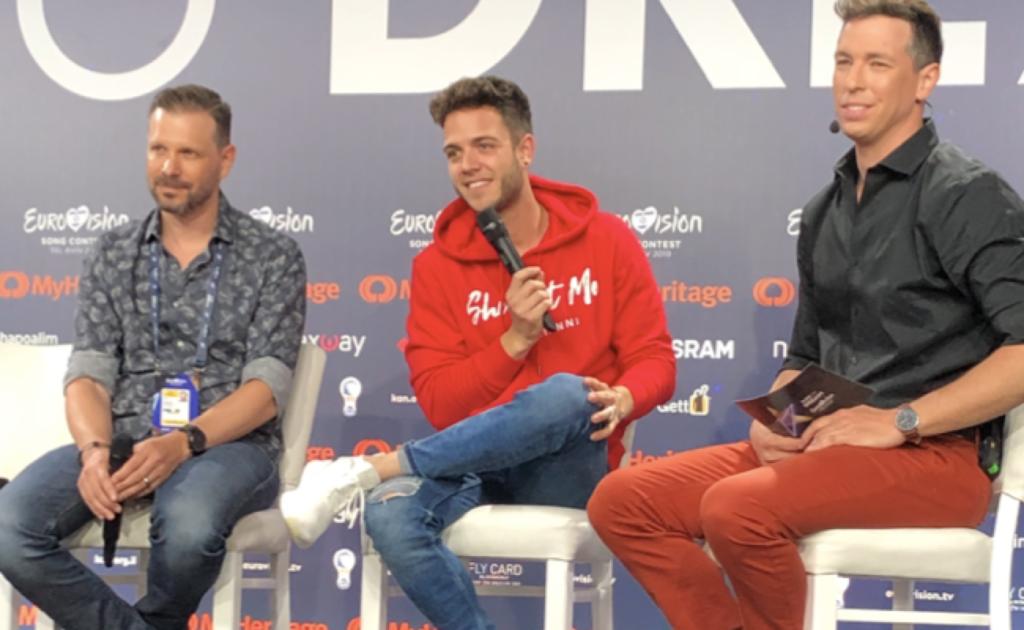 Luca Hänni Eurovision 2019 press meet & greet