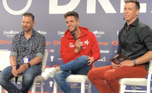 Luca Hänni Eurovision 2019 press meet & greet
