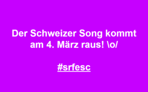 Eurovision Song Contest 2020 Swiss Song SRF