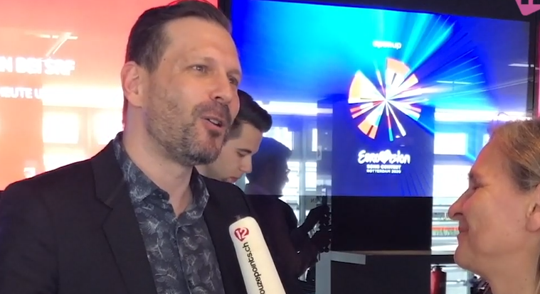Reto Peritz Head of Delegation Switzerland Gjons Tears Repondez-moi Eurovision 2020