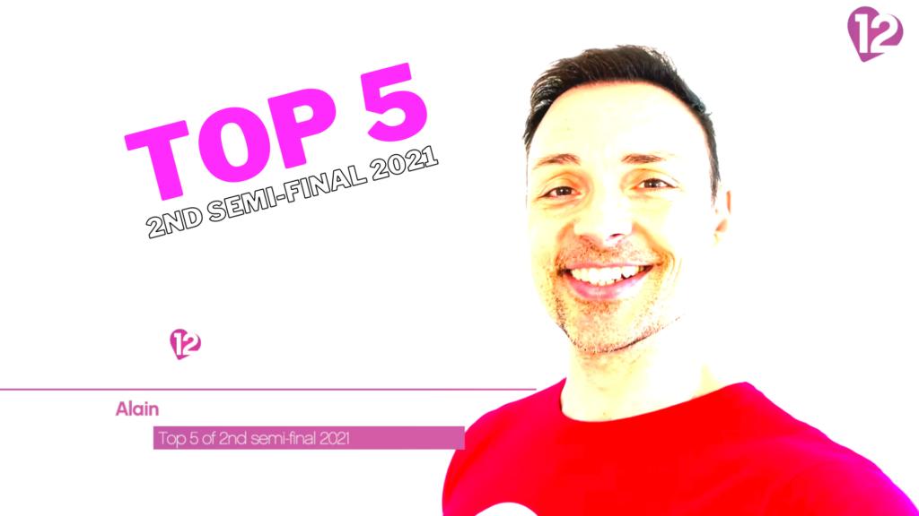 Eurovision Contest 2021 Semi-Final 2 Top 5