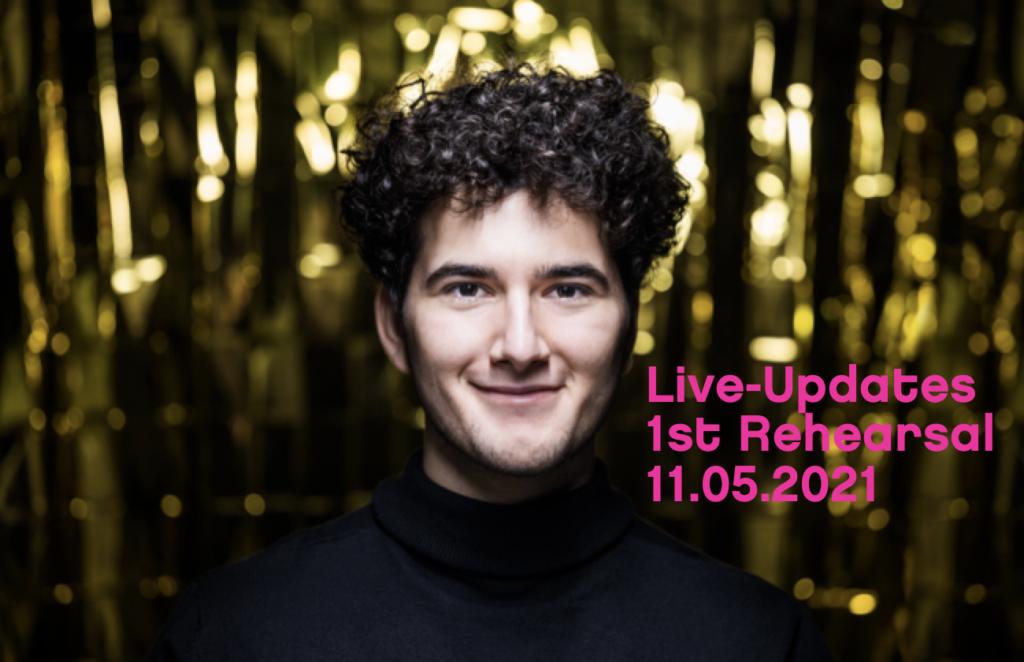 gjon's tears Eurovision Song Contest 2021 Live Updates erste Probe