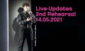 gjon's tears Eurovision Song Contest 2021 Live Updates zweite Probe