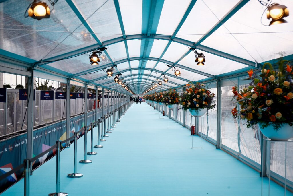 Turquoise Carpet Eurovision Song Contest 2021 Opening Ceremony